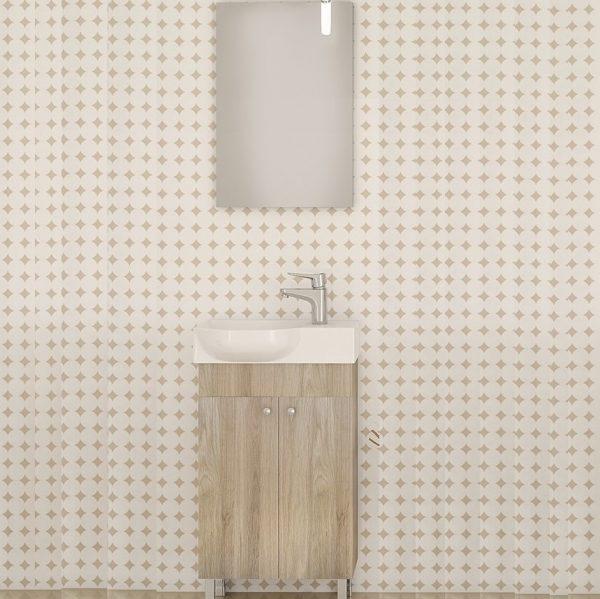 Έπιπλο μπάνιου Drop Litos 45 Brown Oak