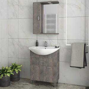 Έπιπλο μπάνιου Drop Ritmo Smoked Oak