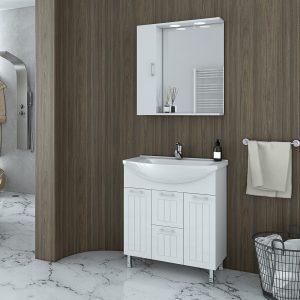 Έπιπλο μπάνιου Drop Ritmo 75 White