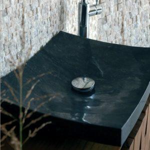 Επιτραπεζιος πετρινος νιπτηρας μπανιου Piring Black