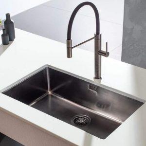 Μαυρος ανοξειδωτος υποκαθημενος νεροχυτης κουζινας Apell Metamorfosis MEM 71-410