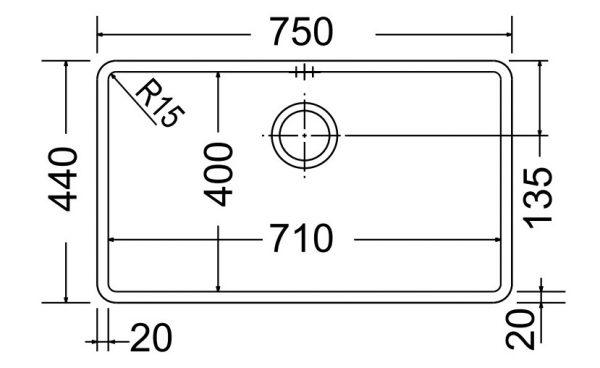 Μαυρος ανοξειδωτος υποκαθημενος νεροχυτης κουζινας Apell Metamorfosis MEM71-410