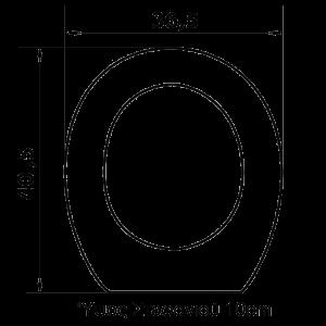 Υπερυψωμένο Κάλυμμα λεκάνης ΑμΕΑ0205