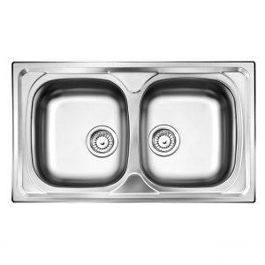 Ανοξειδωτος νεροχυτης κουζινας Apell Area 8230