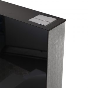 Wisa Glassbox Black - Επιτοιχο καζανάκι σε γυάλινο πλαίσιο