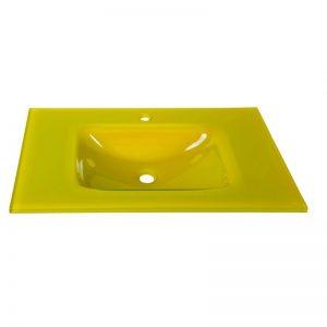 yellow γυάλινος νιπτήρας κίτρινος