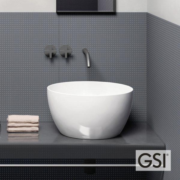 Επιτραπεζιος νιπτήρας μπάνιου GSI Pura 8852