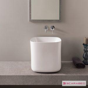 Νιπτήρας μπάνιου από πορσελάνη Scarabeo Moon 5503