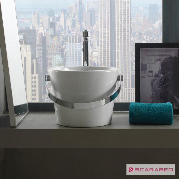 Νιπτήρας μπάνιου από πορσελάνη Scarabeo Bucket 8801