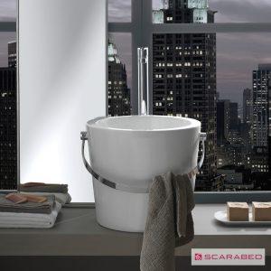 Νιπτήρας μπάνιου από πορσελάνη Scarabeo Bucket 8803