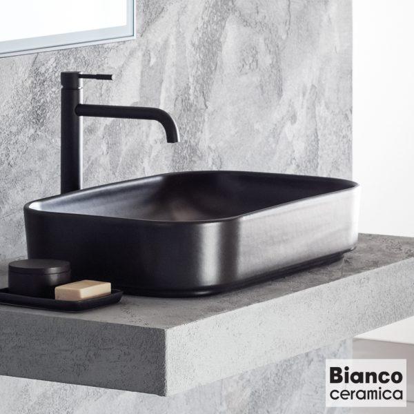 Επιτραπεζιος Νιπτηρας μπανιου Bianco Ceramica Centro 34060 Black Matt