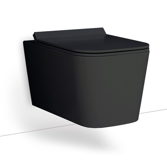 Κρεμαστη λεκανη Bianco Ceramica Enzo Rimless Black NZ11500SC-401