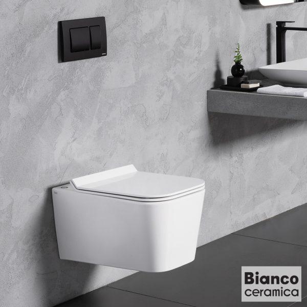 Κρεμαστη λεκανη Bianco Ceramica Enzo Rimless NZ11500SC