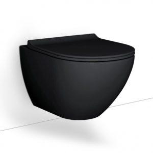 Κρεμαστη λεκανη Bianco Ceramica Remo Rimless Black RM11500SC-401