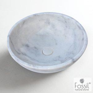 Επιτραπεζιος μαρμαρινος νιπτηρας Fossil Molo Marble DR45 Carrara Nuovo