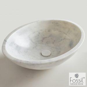 Επιτραπεζιος μαρμαρινος νιπτηρας Fossil Mica Marble DR55 Carrara Nuovo