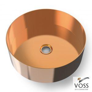Επιτραπεζιος μεταλλικος νιπτηρας Voss Luna Rose Gold Brushed PVD