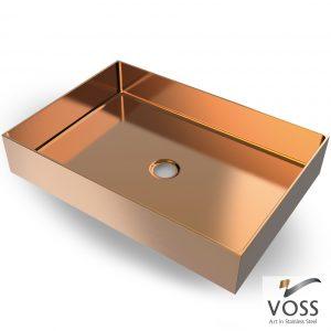 Επιτραπεζιος μεταλλικος νιπτηρας Voss Aldo Rose Gold Brushed PVD