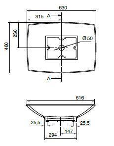 Επιτραπέζιος νιπτήρας Scarabeo Kylis 8046