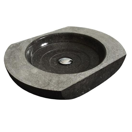 Bati Hati Black Επιτραπέζιος Πέτρινος Νιπτήρας