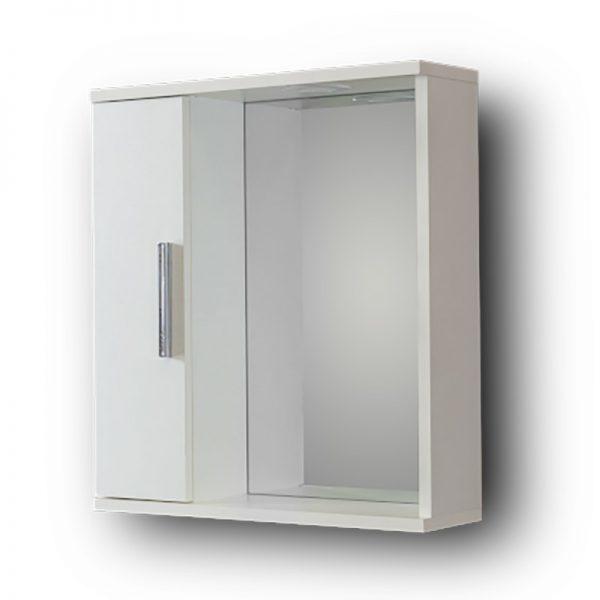 Καθρέπτης Μπάνιου Με Ντουλάπι Alon White 50L