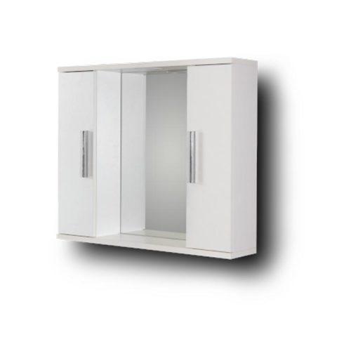 Alon White 65 Καθρέπτης μπάνιου με 2 ντουλάπια