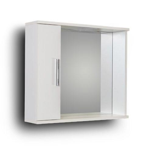 Alon White 65L Καθρέπτης Μπάνιου Με Ντουλάπι