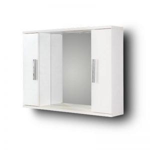 Καθρέπτης Μπάνιου Με 2 Ντουλάπια Alon White 75