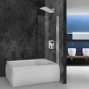 Aquarelle Bathtub Fresh 1 Διαχωριστικό Μπανιέρας Περιστρεφόμενο