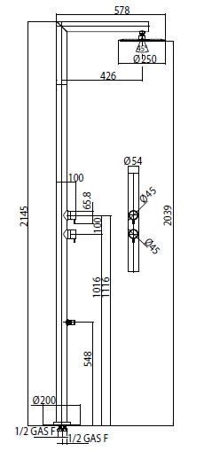 Bossini Nek Floor L00362