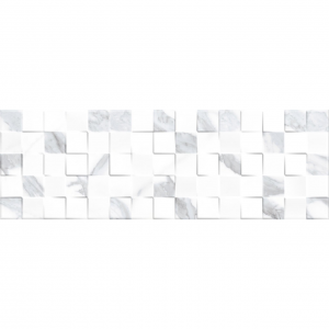 Keros Cubik Statuario 25x75 Πλακάκι Τύπου Μάρμαρο
