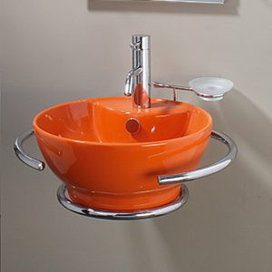 Πορτοκαλί Νιπτήρας Μπάνιου Diamante Orange