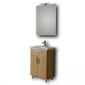 Έπιπλο Μπάνιου Με Καθρέπτη Eco 55 Sonoma