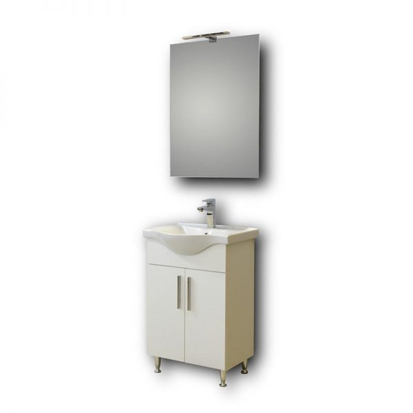 Έπιπλο Μπάνιου Με Καθρέπτη Eco 55 White
