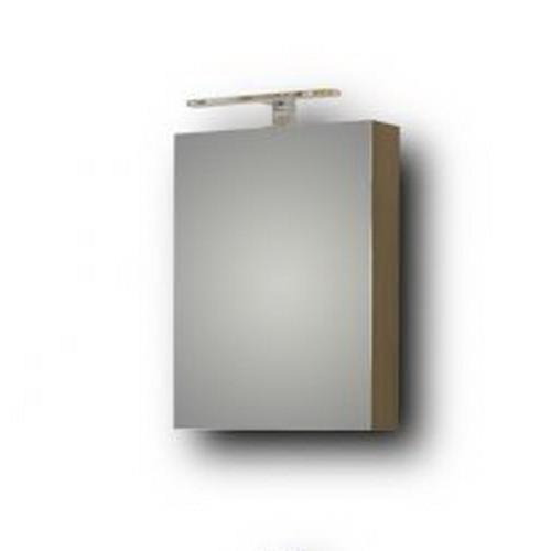 Καθρέπτης Μπάνιου Με Ντουλάπι Eco Grey 42x55