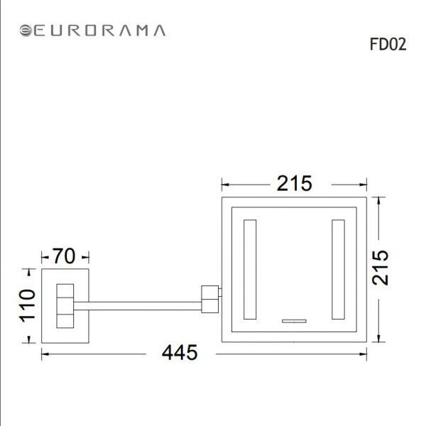 Eurorama Hotelia FD02 Μεγεθυντικος Καθρεπτης Led sx