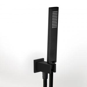 Eurorama Square C20141 Black Matt Παροχή με Τηλέφωνο & Σπιραλ