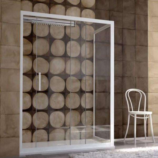 Forte Evolution Καμπίνα Από Τοίχο Σε Τοίχο Λευκή