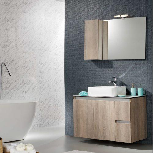 Έπιπλο μπάνιου με επιτραπέζιο νιπτήρα Furnibath C1 Counter