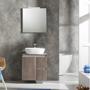 Έπιπλο μπάνιου με επιτραπέζιο νιπτήρα Furnibath C3 61