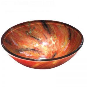 Γυάλινος Πορτοκαλί Νιπτήρας Gloria Dia Glass 67-8003
