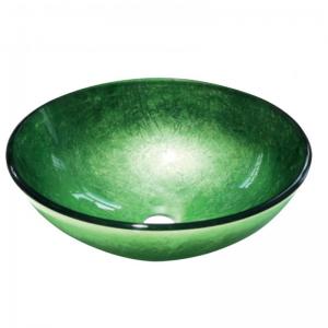 Πράσινος Γυάλινος Νιπτήρας Gloria Dia Glass 67-8029