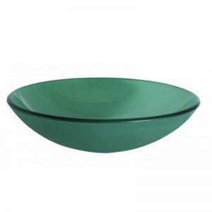 Πράσινος γυάλινος νιπτήρας Gloria Frosted Green 66-0003