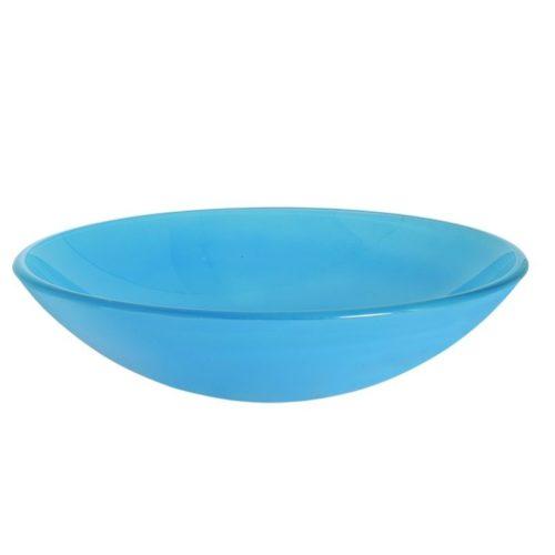 Επιτραπέζιος γυάλινος νιπτήρας Gloria Frosted Light Blue 66-0010