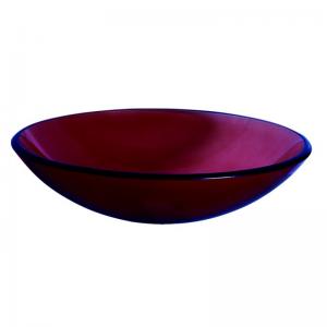 Κόκκινος γυάλινος νιπτήρας Gloria Frosted Red