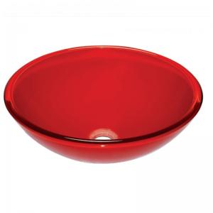 Κόκκινος Νιπτήρας Γυάλινος Gloria Dia Glass Red 66-8305