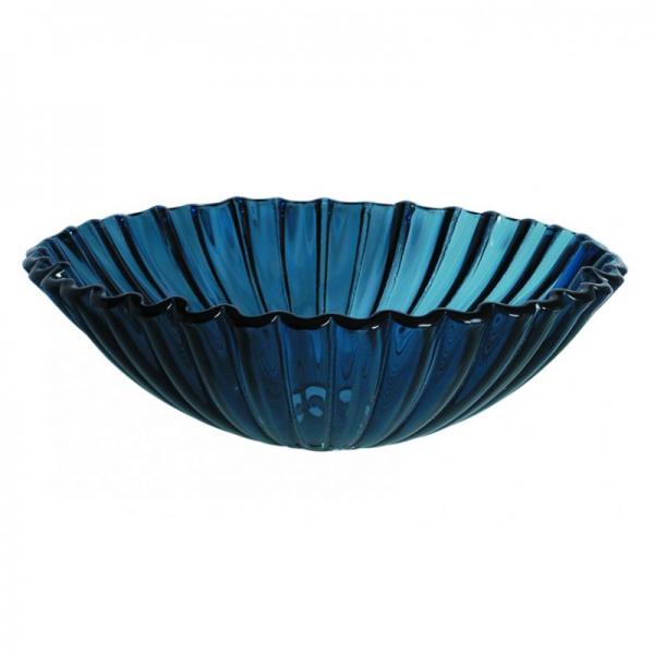 Επιτραπέζιος γυάλινος νιπτήρας Gloria Transparent Blue 67-0021
