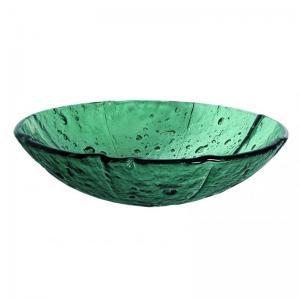 Πράσινος Γυάλινος Νιπτήρας Gloria Transparent Green 67-0023