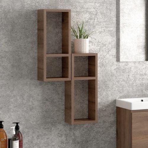 Κρεμαστή ραφιέρα μπάνιου Karag Brown 20
