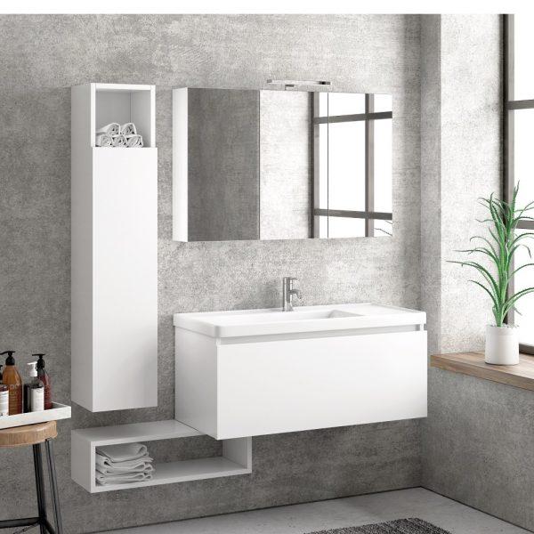 Έπιπλο μπάνιου Karag Space Bianco 100ιου